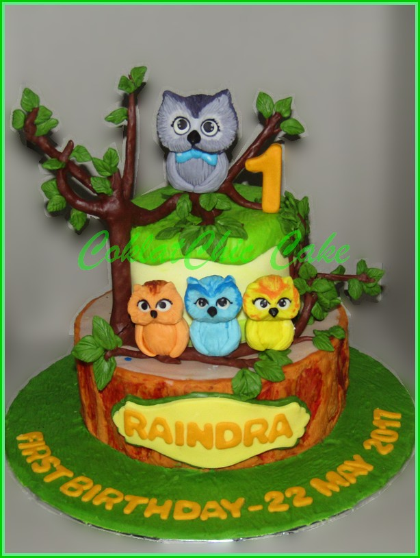 Cake Owl RAINDRA 18 cm dan 12 cm