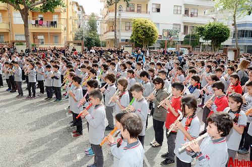 500 öğrenci flütle 'Hey onbeşliyi' söyledi-7
