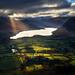 Sunbeams Across Crummock Water