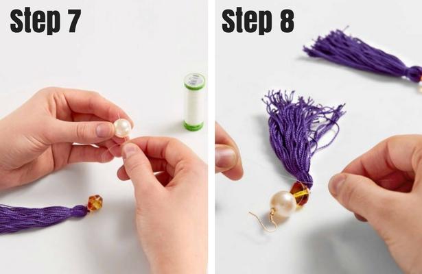 Tassel Earrings Steps  7 8