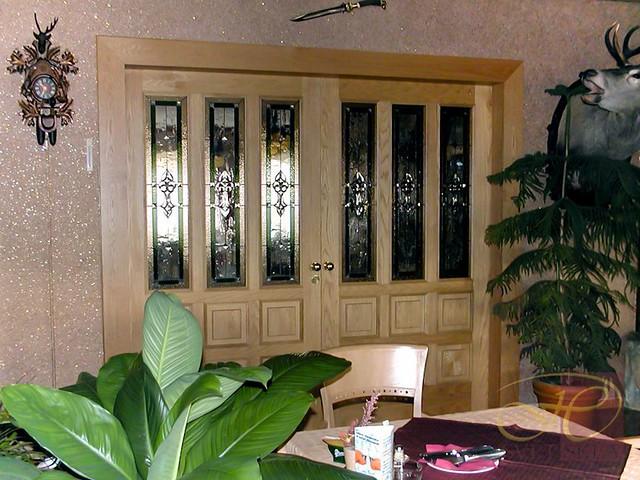 vitráže ve dveřích