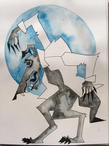 9 - Werewolf - Art Journal Page