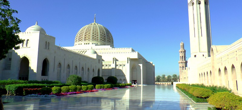 Die Große Sultan-Qabus-Moschee  arabisch جامع السلطان قابوس الأكبر Maskat im Oman
