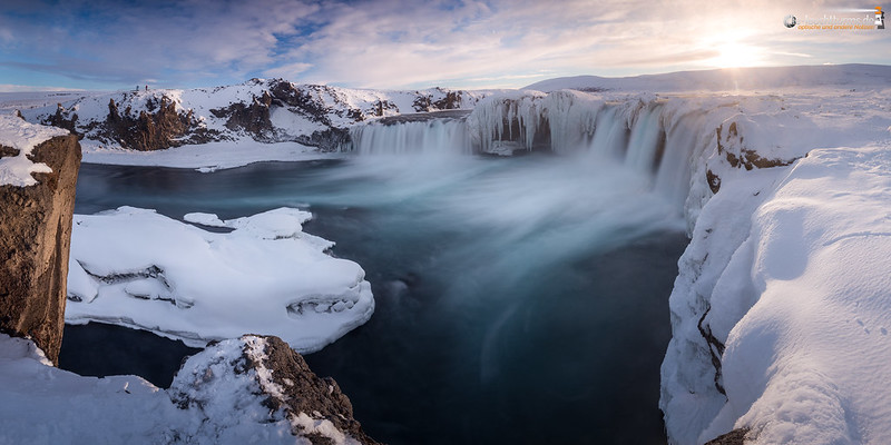 Goðafoss at sunset