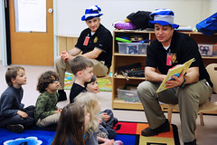 Garrison leaders read Dr. Seuss to kids at CDC