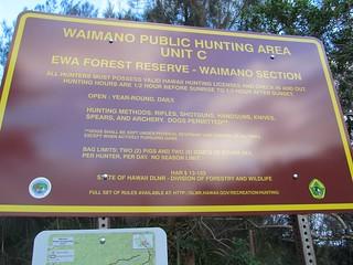 Waimano Public Hunting Area