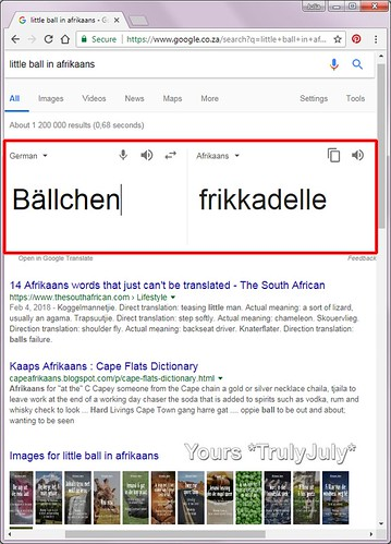 Google Translate gets it wrong and turns a small ball into a meat ball: 'Baellchen' does not always refer to 'frikkadelle'!