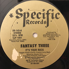 FANTASY THREE:IT'S YOUR ROCK(LABEL SIDE-A)