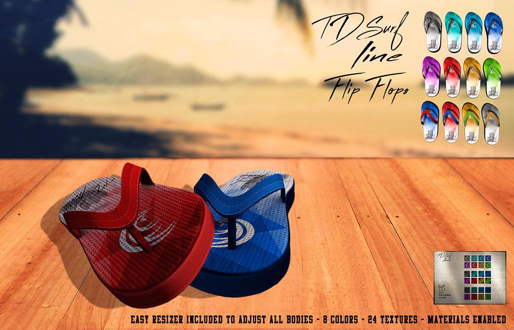 ^TD^Surf Line Flip Flops