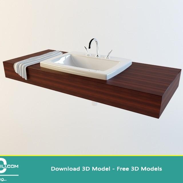 "Karol sink mirror"" sanitary ware collection 3d models   wash."