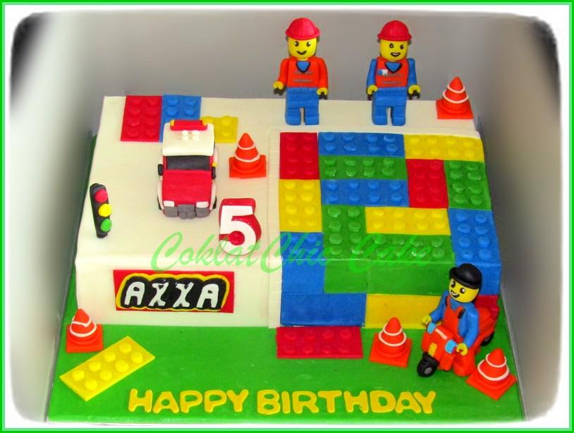 Cake Lego City AXXA 18x27 cm