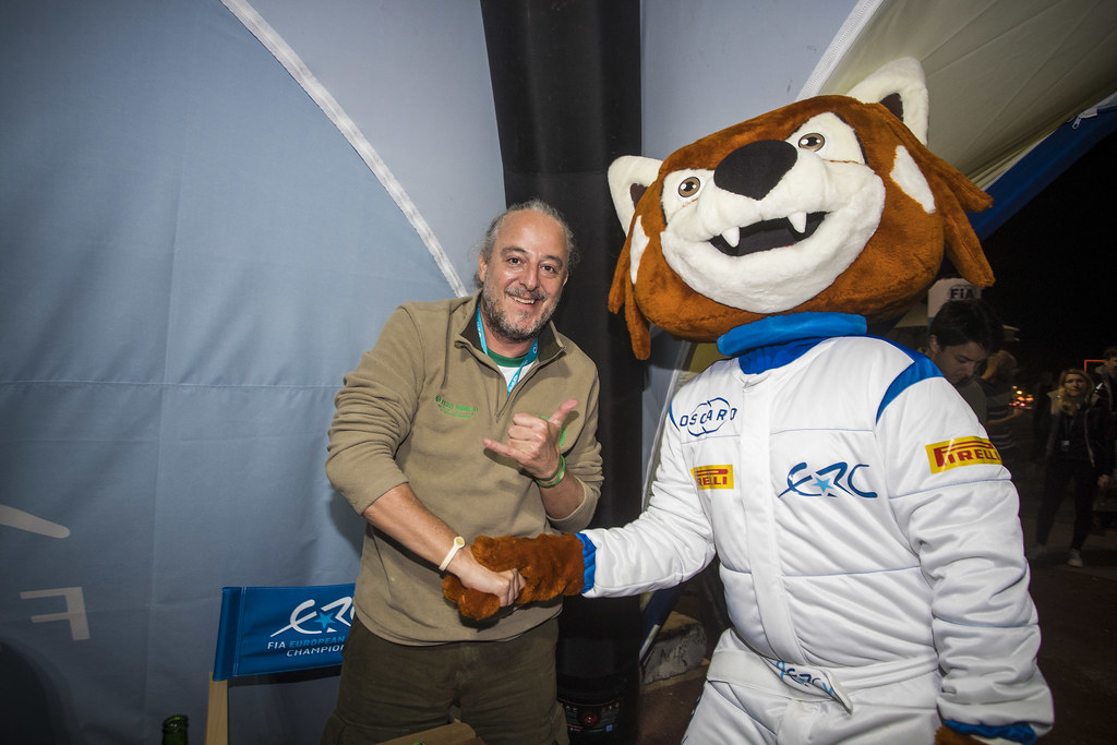 ERC Welcome reception and Percy, during the 2018 European Rally Championship ERC Azores rally,  from March 22 to 24, at Ponta Delgada Portugal - Photo Gregory Lenormand / DPPI