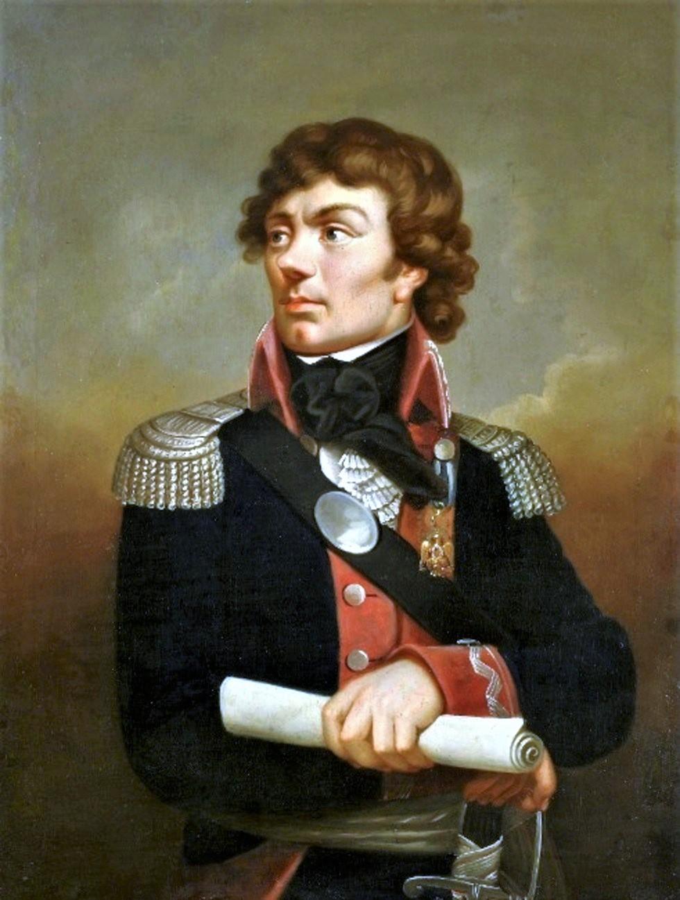 Portrait of Tadeusz Kościuszko by Karl Gottlieb Schweikart. Kościuszko is shown wearing the Eagle of the Society of the Cincinnati, awarded to him by Gen. Washington.