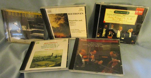Lot of 5 Ludwig van Beethoven Classical Music CDs