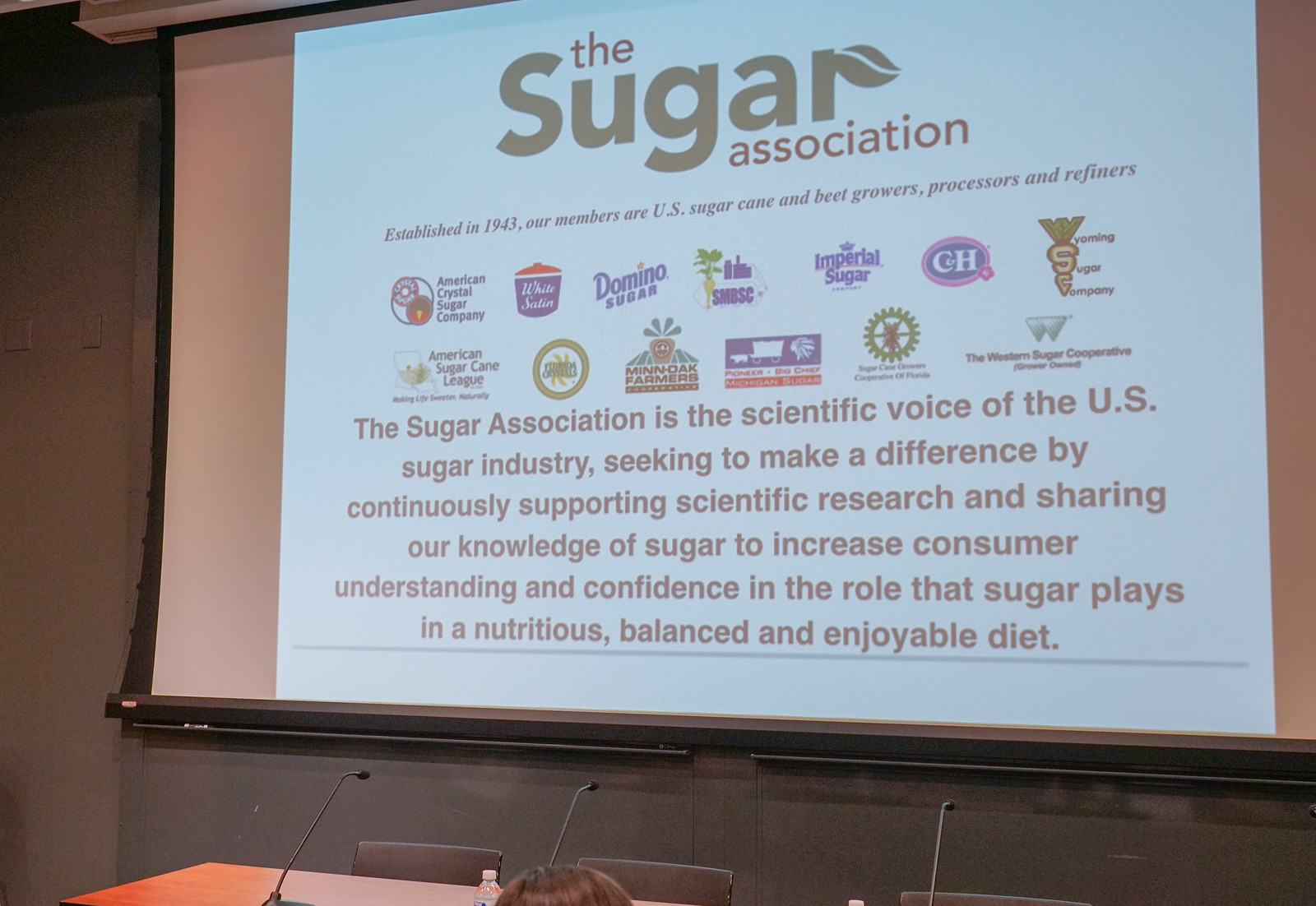 2018.03.21 Cross-Disciplinary Discussion Surrounding Sugar and Sweetener Consumption, Washington, DC USA 4165