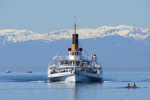 Regional Pass Lake Geneva - Alps steamboat. From Have A Swiss Travel Pass? Happy Traveling via Trains, Boats, and Land