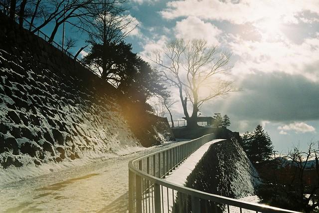 The rampart of Morioka Castle