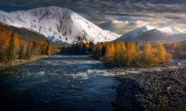 Autumn colors at Twilight.