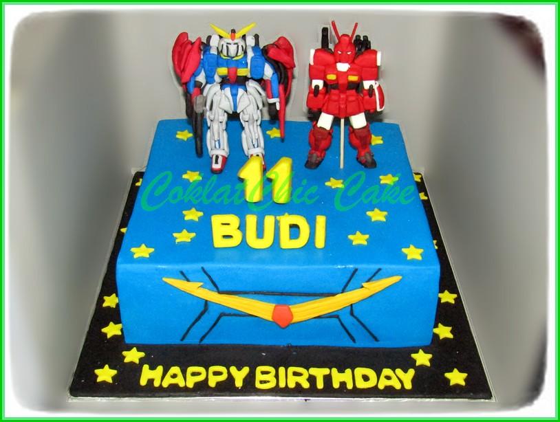 Cake Gundam BUDI 24 cm