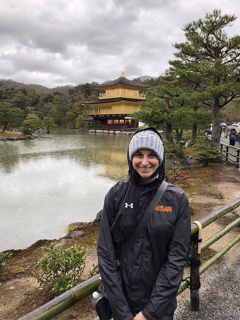 In front of the Golden Pavilion