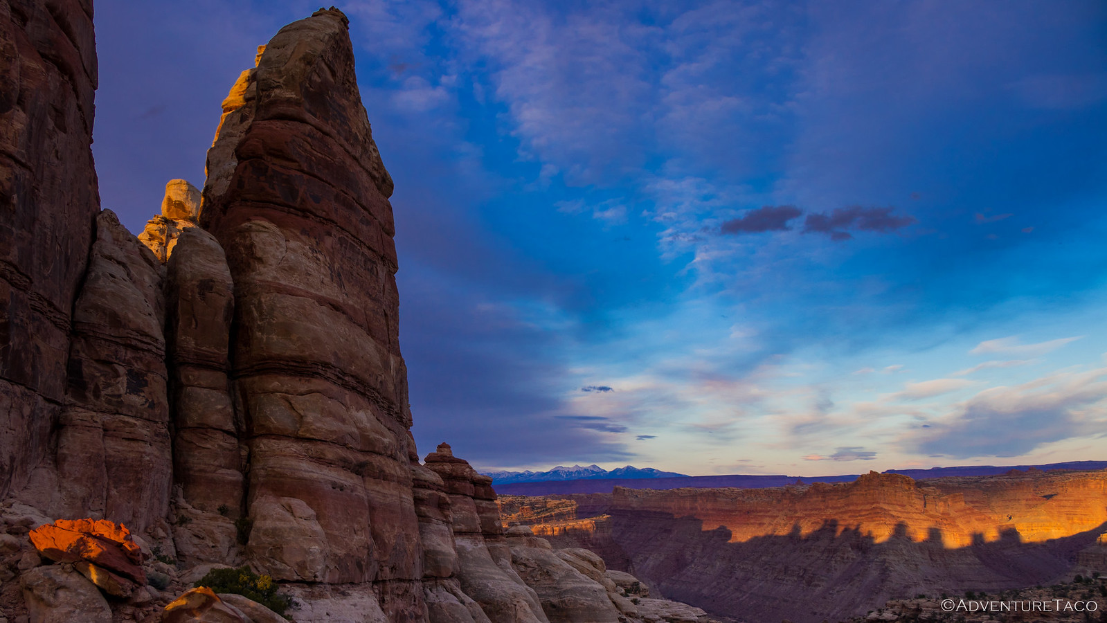 The Doll House at sunset, Canyonlands National Park