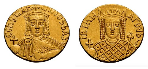 gold solidus of Constantine VI and Irene