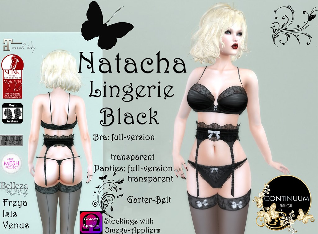 Continuum Natacha Lingerie Black