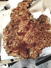 Crazy figure on a maple burl
