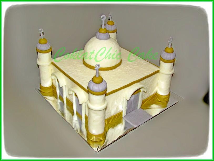 cake masjid 18 cm