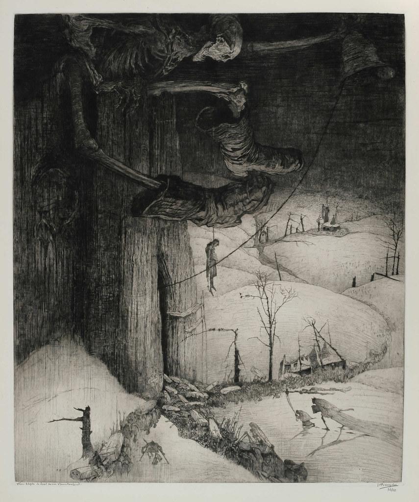 Jules De Bruycker - Death Tolls Again Over  Flanders, 1916
