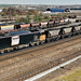 Loadhaul 60007 passes Scunthorpe with a rake of loaded MGR hoppers