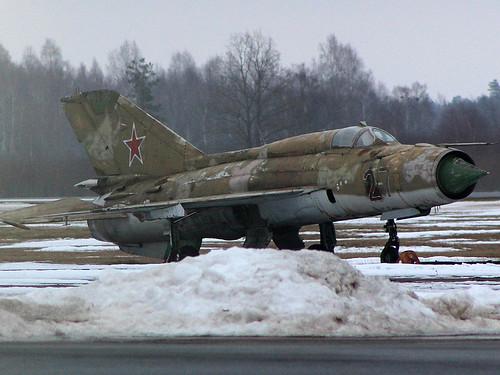 27red MiG-21 Liepaja, Latvia 10-03-18
