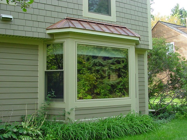 Andersen Bay window with Copper Roof