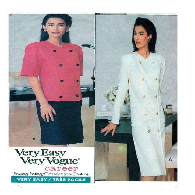 Vogue 7403 80s suit dress