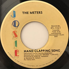 THE METERS:HAND CLAPPING SONG(LABEL SIDE-A)