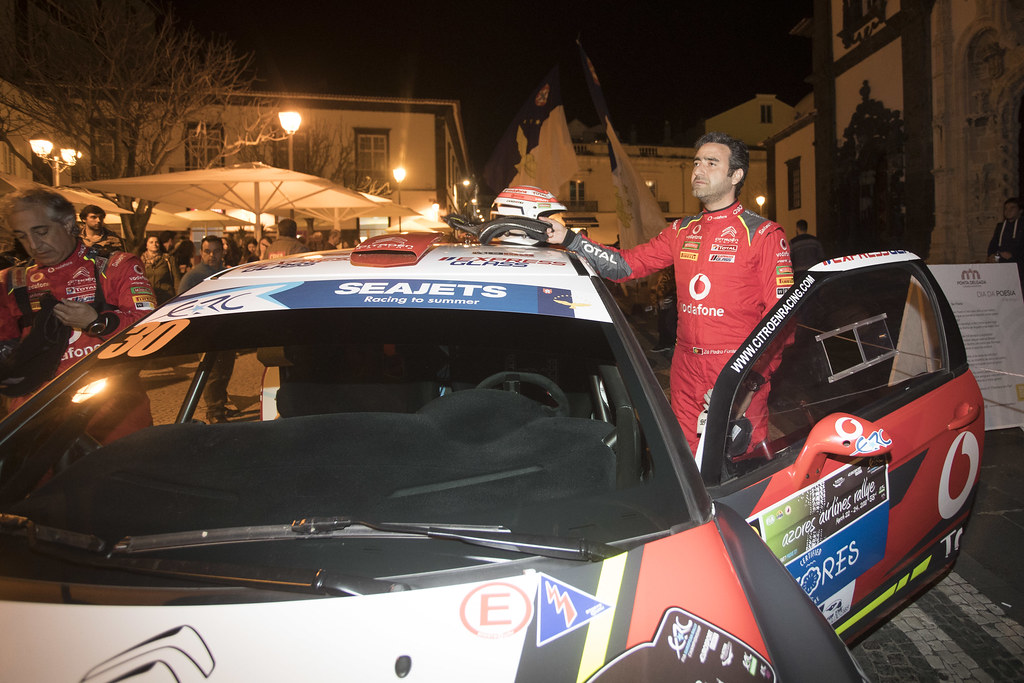 30 FONTES Jose Pedro (prt), BABO Paulo (prt), CITROEN VODAFONE TEAM, CITROEN DS3 R5, portrait during the 2018 European Rally Championship ERC Azores rally,  from March 22 to 24, at Ponta Delgada Portugal - Photo Gregory Lenormand / DPPI