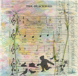 Blackbird Mixed Media