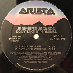 JERMAINE JACKSON:DON'T TAKE IT PERSONAL(LABEL SIDE-A)
