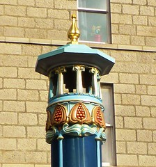 Decorative detail on ventilator over underground tunnels in Aberdeen