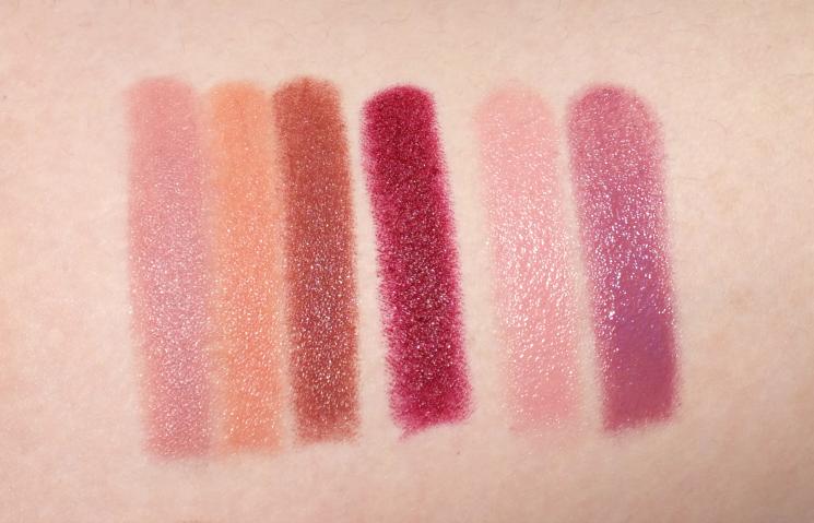 lise watier lipstick swatches