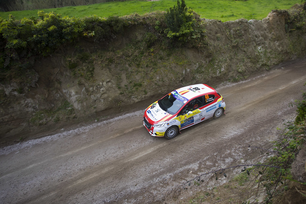 48 LLARENA Efren (esp), FERNANDEZ Sara (esp), Team rallye spain , Peugeot 208 R2, action during the 2018 European Rally Championship ERC Azores rally,  from March 22 to 24, at Ponta Delgada Portugal - Photo Gregory Lenormand / DPPI