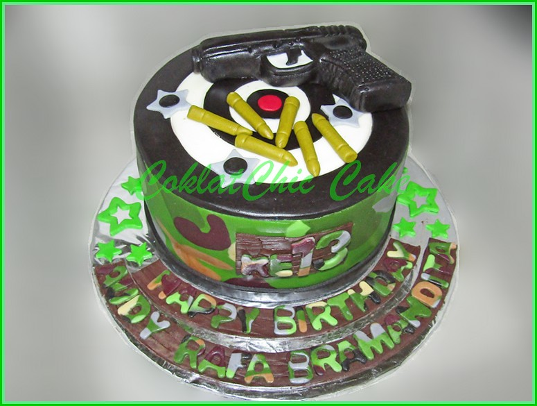 Cake ARMY Gun AUDY RAFA 15 cm