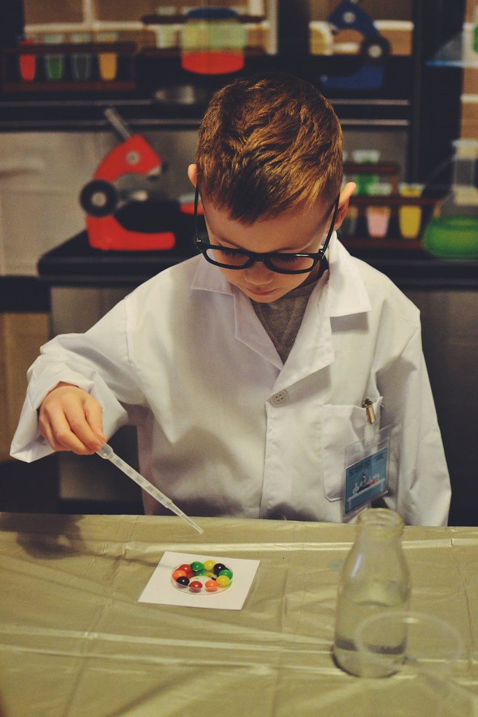 Skittles science party
