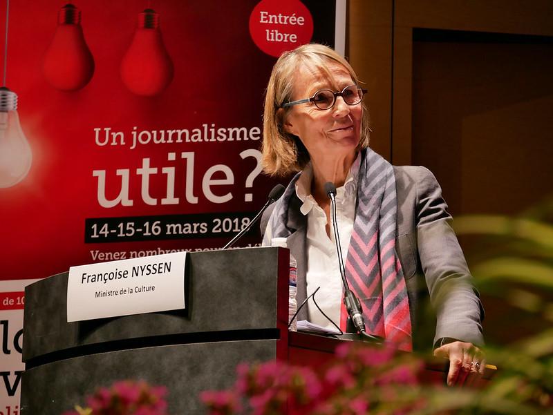 Françoise Nyssen et Thomas Sotto