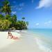 2. Diana en una de las mejores playas de Maldivas
