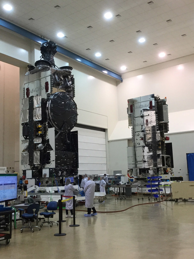 Hellas-Sat-4 and Arabsat6A in clean room