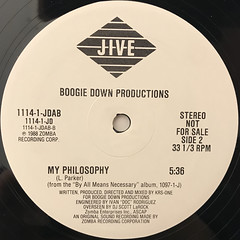 BOOGIE DOWN PRODUCTION:YA SLIPPIN'(LABEL SIDE-B)