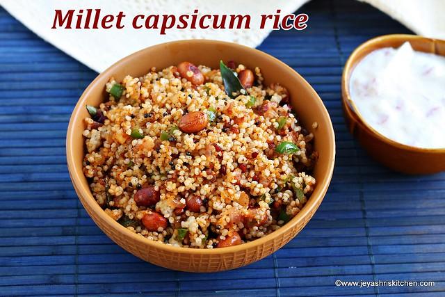 Capsicum podi rice