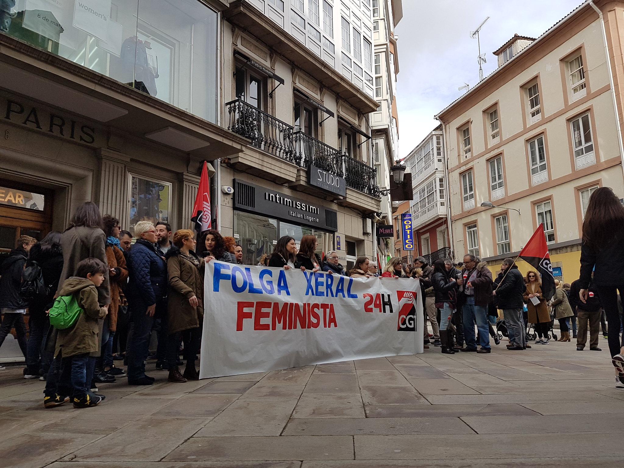 Concentracion Huelga General Feminista 8M. Concentracion 13 h CGT