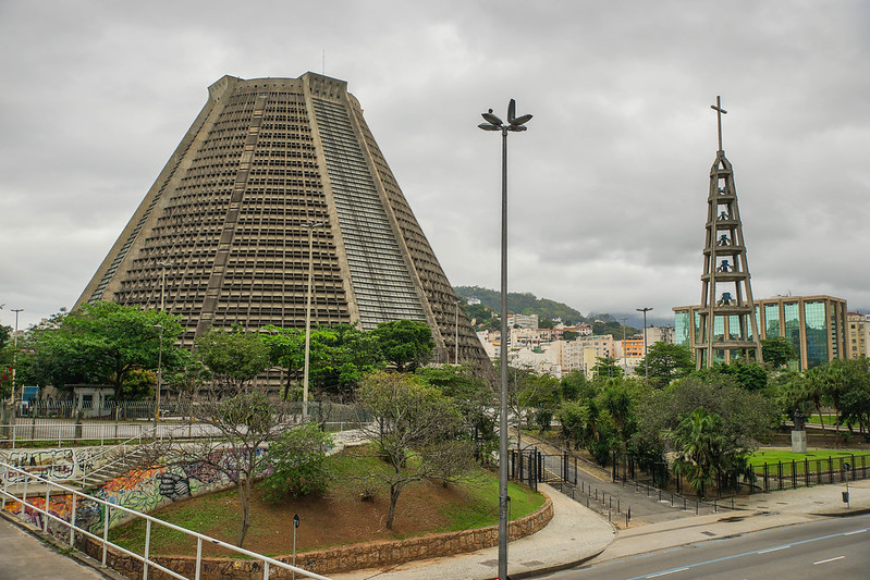 Catedral Metropolitana de Sâo Sebastiâo Brasilia Brazil Rio de Janeiro church kirkko